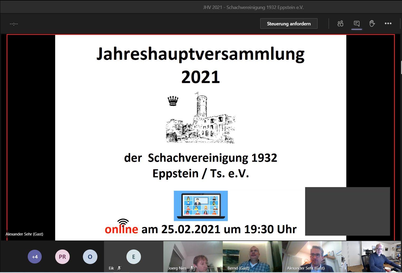 Read more about the article Jahreshauptversammlung erstmals online