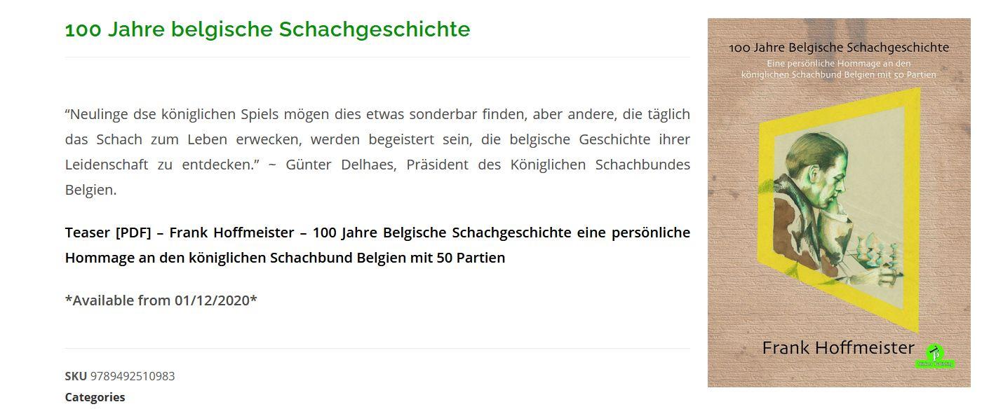 Read more about the article Belgische Schachgeschichte beim Vereinsabend